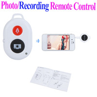 Wholesale New Photo Recording RF Wireless Remote Control autodyne Camera Shutter Release for iPhone S iPad mini iPod touch