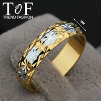 Women's flat ring - TR0205 Promotion Christmas gift fashion women rings flat band Dianty K Gold Plated Ring