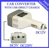 Wholesale Brand New USB DC V to DC V Auto Car Power Converter Inverter Adapter Charger SJ007