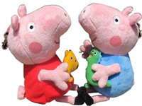 Wholesale New style hot sale inch Peppa Pig the pink Pig sister George pepe Pig doll key chain pendant