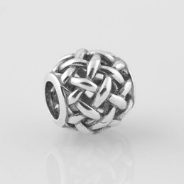 Wholesale 100 High quality S925 Stamped Sterling Silver Openwork Basketweave Charm Bead Fits European Pandora Jewelry Bracelets Necklaces Pendants