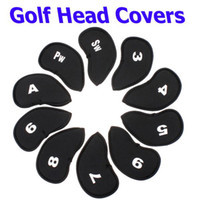 Wholesale Black Golf Club Iron Putter Head Cover HeadCovers Protect set Neoprene