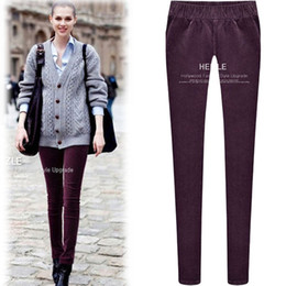 Wholesale Women s new autumn and winter in Europe and America were thin pencil pants corduroy leggings elastic waist trousers