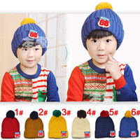 Wholesale snapback hats2013 new children s knitted hat flanging standard colors _MZ1553