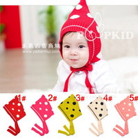 Wholesale snapback hatsWinter hat jacquard dot Elf Phoenix Children ear hat bucket colors _MZ0963