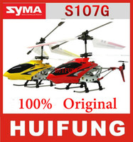 Wholesale Original cm SYMA s107 S107G mini metal CH RC helicopter model toys with gyro