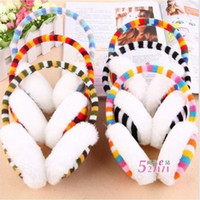Wholesale Rainbow stripe Earmuffs Ear warmer Earlap Warm Ear Muffs Headband Winter U Pick Brand New