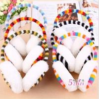 Wholesale Rainbow stripe Earmuffs Ear warmer Earlap Warm Ear Muffs Headband Winter U Pick Brand New