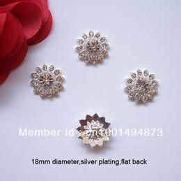 (J0094) 18mm diameter metal rhinestone embellishment without loop,flat back