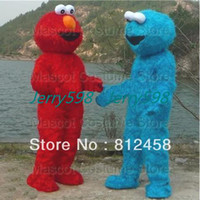 Wholesale 1pcs Character Cartoon Costume Elmo Mascot Costume Cookie Monster Sesame Street Costumes Fancy Dress Suit