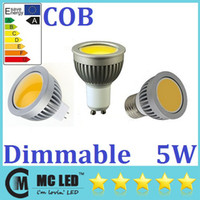 Wholesale 5W Led COB Lights Dimmable GU10 E27 E26 E14 MR16 Led Spot Bulbs Lumens Warm Natural Cool White Led Lamps V V
