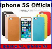 Wholesale Official styling New PU Leather Case Back Cover Colorful Cases For Apple iphone S iphone C Factory price MOQ