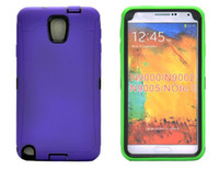 For Samsung Leather  PU and Silicone 3 in 1 hybrid Hard Back Case for for Samsung Galaxy N9000 Note 3 Note3 MOQ 100pcs