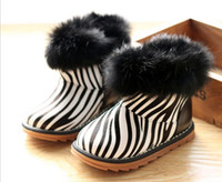 Winter Snow Boots Ankle Free shipping 2013 new boots wholesale private cotton shoes little zebra grain soft bottom warm shoes 5 PCS