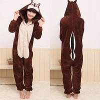 Wholesale Cartoon Animal Chipmunks Unisex Adult Onesies Onesie Pajamas Kigurumi Jumpsuit Hoodies Sleepwear For Adults Welcome Order