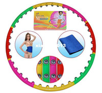 Wholesale Removeable Magnetic Massage Hula Hoop components freely assembly Waist Trimmer Belt Lose Weight Slimming Exercise Fitness