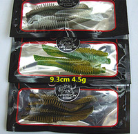 Wholesale Body Double Color Soft Lure Fishing lure Worms False Bait Fishing tackle Freshwater bait length cm weight g per pieces Mixed sales