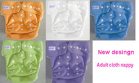 Wholesale 5 color choice new design waterproof Adult cloth diaper Nappy nappies diaper washable diapers nappies insert