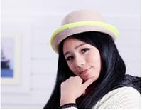 Wholesale 2013 Autumn Winter Women s Fashion Cap Devil Hat Cap Small Fedoras Cashmere Hat Wool Hat Animal Hat For Women L391