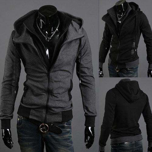Wholesale - Wholesale - Free Shipping hot sale men fashion hoodies hoody men hoodies clothing fleece Thick coat with exact velvet black