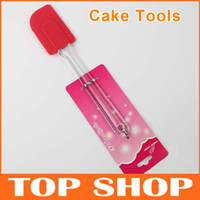 Wholesale Silicone Cake Tools baking Polisher Scraper Spatula cm g Butter Cake Knife JJ0028