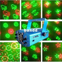 Wholesale 20 Effects In One Mini Laser Stage Lighting Laser Projector For Christmas Holiday Parties V V Hz