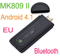 14'' Desktop 16:9 New! EU Plug Mini PC Android 4.1 Google TV Box Dual Core RK3066 1G 8GB Bluetooth HD1080P Wifi tv stick MK809 II free shipping