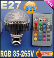 Wholesale led chang color Factory outlet Low price AC V RGB LED Lamp W E27 led Bulb Lamp with Remote Control led lighting CREE
