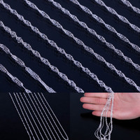 Wholesale Silver Necklace Chains Curb Rings Links Lobster Clasps Rope Chains Sizes SH5