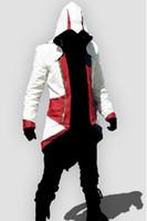 Wholesale NEW Assassin s Creed III Conner Kenway Coat Jacket Hoodie Cosplay Costume