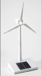 Wholesale 1pcs LEDs ABS solar energy wind turbine generators powered Solar LED light