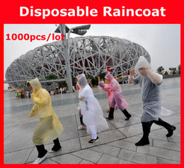 Wholesale amp Disposable PE Raincoats Poncho Rainwear Travel Rain Coat Rain Wear gifts mixed colors
