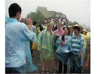 Wholesale New Travel Essentials Disposable PE Raincoat hat rain Poncho manufacturer random color