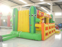 inflatable games inflatable bouncer - Advetising Inflatable colorful bouncer bed with game