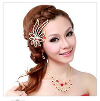 Wholesale fashion beautiful wedding bridal party headwear sets plum blossom necklace earrings headwear bridal accessory O118