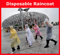 Wholesale Hot sale Disposable PE Raincoats Poncho Rainwear Travel Rain Coat Rain Wear gifts mixed colors amp