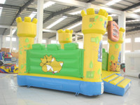 Wholesale Advetising garden Inflatable colorful kids s jumping bouncer castle and Bed with game