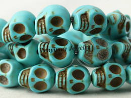 Wholesale 120pcs 8x10mm Skull Turquoise Beads For DIY 10 Colors Choose