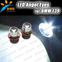 Front BMW Completely integrative aluminum Super bright 10W CREE Auto LED Marker Angel Eyes For BMW E39 E53 X3 E60 E61 E63 E64 E65 E66 E87 OEM Part No. 63126929309