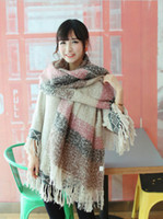 Wholesale Fashion Women Contrast Color Stripe Tassel Neckerchief genuine