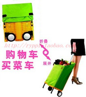 Wholesale Invisible trolley bags shopping cart luggage cart folding portable car folding bike trolley