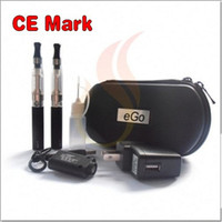Wholesale CE Logo eGo CE4 Electronic Cigarette Double Starter Kit With mAh mAh mAh Battery CE4 Atomizer eGo Zipper Case Multi Color VIA DHL