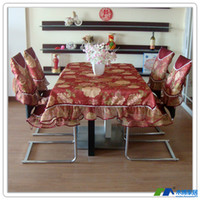 Wholesale Wood home fabric dining table cloth dining chair set cushion chair cover rustic lace fabric