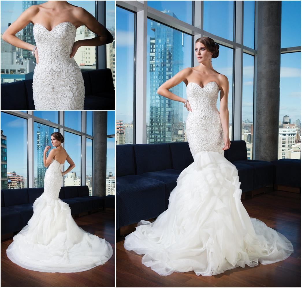 Ravishing bling mermaid organza wedding dress bridal gown for Bling corset mermaid wedding dresses