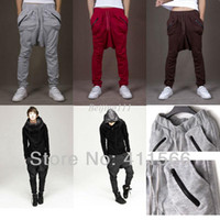 Pants Men Bootcut christmas R5 Color Hot Sales Free Ship 2013 New Offer! Casual Pants For men Fashion Cool Harem Pants Sweatpant Zipper Pocket Design M-XXL