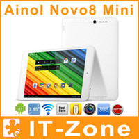 Wholesale Ainol Novo8 Mini inch mini Pad Android ATM7021 Dual Core GHz GB Rom Dual Camera HDMI