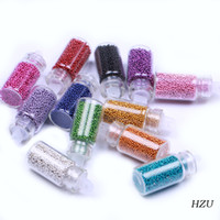 Wholesale Colors Bottle Nail Color Ball Beads Marbles For Nail Art Salon Beauty Desgin HZU