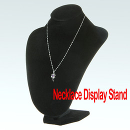 Wholesale Freeshipping Black Velvet Jewelry Necklace Pendant Bust Display Stand Easel Dropshipping