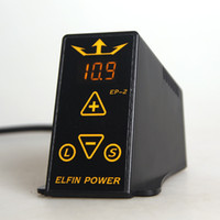 Grado Dual Digital de Tatuaje fuente de Alimentación LCD ELFIN de Alimentación EP-2 Para el Profesional de la Máquina de Tatuaje Kits de Pop