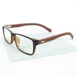2017 Leather Legs Glasses Frames Retro Non-Mainstream Square Eyewear Frame For Women And Men 12pcs Lot